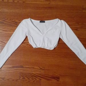 PLT White Crop Top